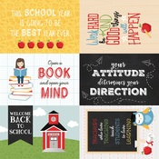 4 x 6 Journaling Cards Paper - School Rules - Echo Park