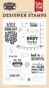 Study Hard Stamp Set - Echo Park