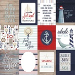 3 x 4 Journaling Cards Paper - By The Sea - Carta Bella