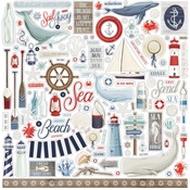By The Sea Element Sticker - Carta Bella