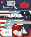 By The Sea Frames & Tags Ephemera - Carta Bella