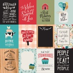 3 x 4 Journaling Cards Paper - Farmhouse Kitchen - Echo Park - PRE ORDER