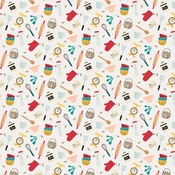Kitchen Chaos Paper - Farmhouse Kitchen - Echo Park