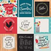 4 x 4 Journaling Cards Paper - Farmhouse Kitchen - Echo Park