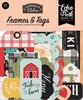 Farmhouse Kitchen Frames & Tags Ephemera - Echo Park Fun and unique additions to any paper crafting project! This 4.5x5.25 inch package contains 33 die-cut cardstock pieces. Made in USA.