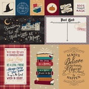 Journaling Cards Paper - Witches & Wizards - Echo Park - PRE ORDER