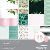 "Sunkissed 6.5""X6.5"" Paper Pad - Kaisercraft"
