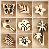 Sunkissed Mini Wood Embellishments - Kaisercraft - PRE ORDER