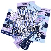 Amethyst Sentiment Collectables Cardstock Die-Cuts - Kaisercraft - PRE ORDER