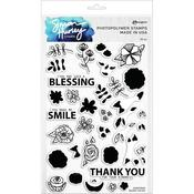 Doodle Florals Simon Hurley Create Clear Stamps