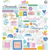 Lets Stay Home Ephemera Pack - Pinkfresh Studio - PRE ORDER