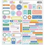 Lets Stay Home Cardstock Stickers - Pinkfresh Studio