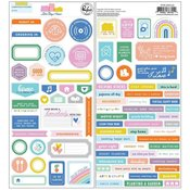 Lets Stay Home Cardstock Stickers - Pinkfresh Studio - PRE ORDER