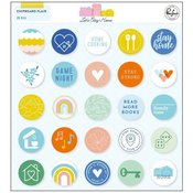 Lets Stay Home Chipboard Flair - Pinkfresh Studio - PRE ORDER