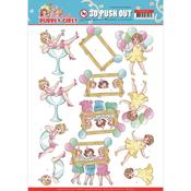 Let's Have Fun Punchout Sheet - Bubbly Girls Party - Find It Trading