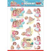 Baking Punchout Sheet - Bubbly Girls Party - Find It Trading