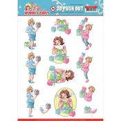 Decorating Punchout Sheet - Bubbly Girls Party - Find It Trading