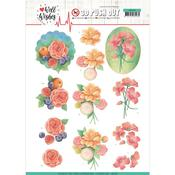 A Bunch Of Flowers Punchout Sheet - Well Wishes - Find It Trading