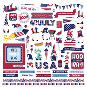 Gnome For July 4th Element Sticker - Photoplay