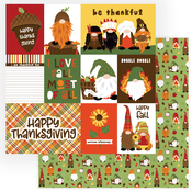 Gobble Gobble Paper - Gnome For Thanksgiving - Photoplay