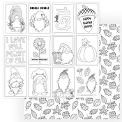 Gnome For Thanksgiving Color Me Sheet - Photoplay