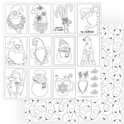 Gnome For Christmas Color Me Sheet - Photoplay