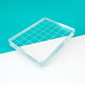 "Acrylic Grid Stamping Block 3-1/4"" X 4-1/4"""