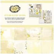 "Vintage Artistry Butter 12""X12"" Collection Pack - 49 And Market"