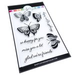 Happy Butterflies Clear Stamp Set - Catherine Pooler