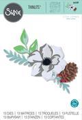 Layered Winter Flower - Sizzix Thinlits Dies By Lisa Jones 13/Pkg