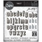 Alphanumeric Shadow Lower - Sizzix Thinlits Dies By Tim Holtz