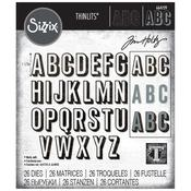 Alphanumeric Shadow Upper - Sizzix Thinlits Dies By Tim Holtz