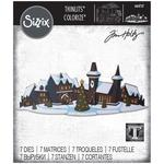 Holiday Village Colorize-Sizzix Thinlits Dies By Tim Holtz