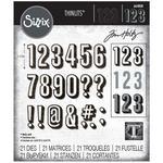 Alphanumeric  Shadow Numbers - Sizzix Thinlits Dies By Tim Holtz