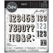 Alphanumeric  Shadow Numbers - Sizzix Thinlits Dies By Tim Holtz - PRE ORDER