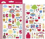 Bar-B-Cute Mini Icons Stickers - Doodlebug