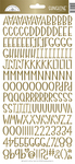 Gold Foil Sunshine Cardstock Alpha Stickers - Doodlebug