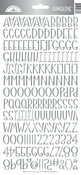 Silver Foil Sunshine Cardstock Alpha Stickers - Doodlebug