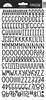 Beetle Black Sunshine Cardstock Alpha Stickers - Doodlebug