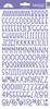 Lilac Sunshine Cardstock Alpha Stickers - Doodlebug