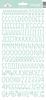 Mint Sunshine Cardstock Alpha Stickers - Doodlebug