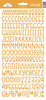Tangerine Sunshine Cardstock Alpha Stickers - Doodlebug