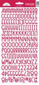 Ladybug Sunshine Cardstock Alpha Stickers - Doodlebug