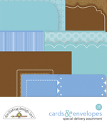 Baby Boy Cards & Envelopes - Doodlebug