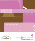 Baby Girl Cards & Envelopes - Doodlebug - PRE ORDER
