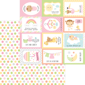 Cute As A Button Paper - Bundle Of Joy - Doodlebug