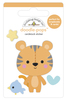 Cuddly Cub Doodlepop - Special Delivery - Doodlebug Doodle Pops - dimensional die cut stickers. The perfect pop of whimsy and delight, these colorful cardstock stickers are a great addition to any card, tag or gift.  Re-positional adhesive. Sticker size approx. 1.875 inches  x 1.75 inches .
