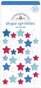Stars & Stripes Shape Sprinkles - Doodlebug - PRE ORDER