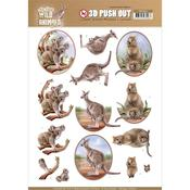 Kangaroo Punchout Sheet - Wild Animals Outback - Find It Trading