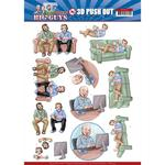 Gaming Punchout Sheet - Big Guys Workers - Find It Trading